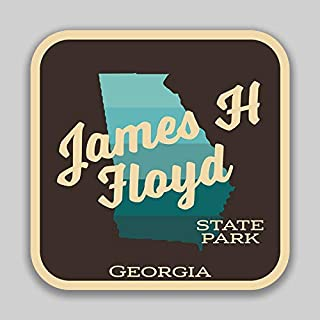 JMM Industries James H Floyd State Park GeorgiaVinyl Decal Sticker Car Window Bumper 2-Pack 4-Inches by 4-Inches Premium Quality UV Protective Laminate SPS00917