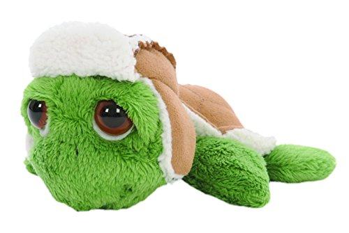 Suki Gifts 28254 - Li\'l Peepers Plüschtier grüne Rocky Schildkröte mit russischer Uschanka Winter Mütze, 15 cm