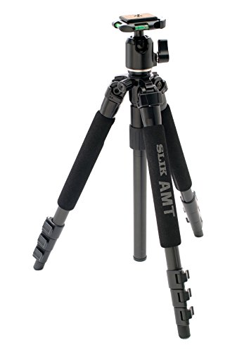 SLIK Pro 340 BH 4-Section Tripod with SBH-200DQ Ballhead - Supports 8.8 lbs (4kg), for Mirrorless/DSLR Sony Nikon Canon Fuji Cameras and More - Black (613-344)