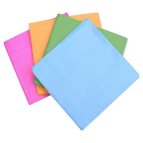 Toyvian, 80 tovaglioli di Carta Colorati, per Cocktail, Compleanni, Baby Shower, Matrimoni, Feste, Decorazioni da tavola (25 x 25 cm)