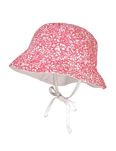 maximo Baby-Mädchen Hut Sonnenhut, Mehrfarbig (Rot-Weiß Blätter 32), (Herstellergröße: 47)
