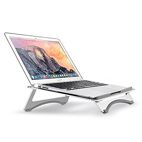 Nllano Supporto per laptop pieghevole in alluminio, supporto portatile per notebook ergonomico di raffreddamento, supporto per supporto regolabile