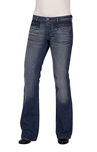 Diesel 0010HI - Jeans da donna, a vita bassa, con taglio a barche Blu 30W x 34L