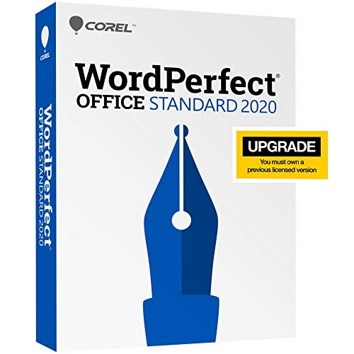 Corel WordPerfect Office 2020 Standard Upgrade   Word Processor, Spreadsheets, Presentations   Newsletters, Labels, Envelopes, Reports, Fillable PDF Forms, eBooks [PC Disc]