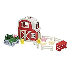 #1. Green Toys Farm Playset-best toys for 2 year old boys