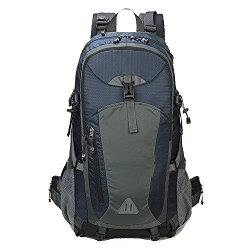 60L sac d'escalade en plein air, grande capacité nylon résistant à l'usure imperméable sac à dos léger, unisexe quatre couleurs - Bleu - L