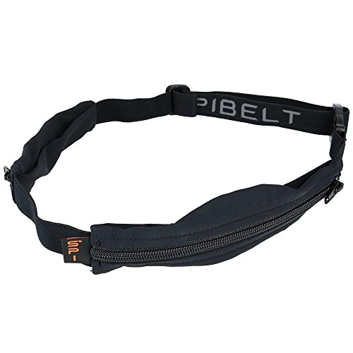 Zeibe Spibelt 05 Dual Pocket - Riñonera de Atletismo y Running Unisex, Color Negro