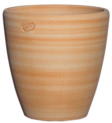 Hentschke Keramik Pflanztopf/Pflanzkübel frostsicher Ø 40 x 40 cm, Terra-Henna, 029.040.57 Blumenkübel für Draußen + Innen - Made in Germany