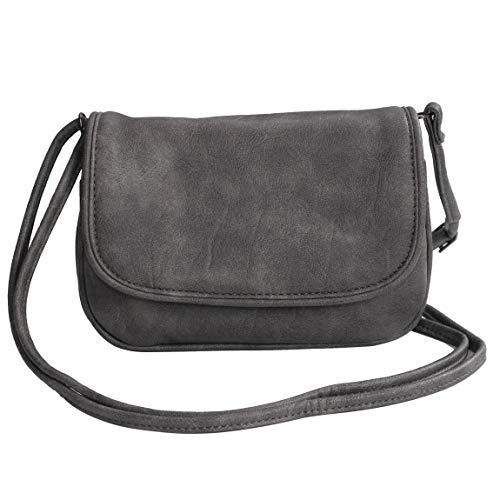 Bag Street - Dieses Angebot wird - präsentiert von ZMOKA BGS-DHAT-835-GY, Sac bandoulière pour femme Gris gris taille unique
