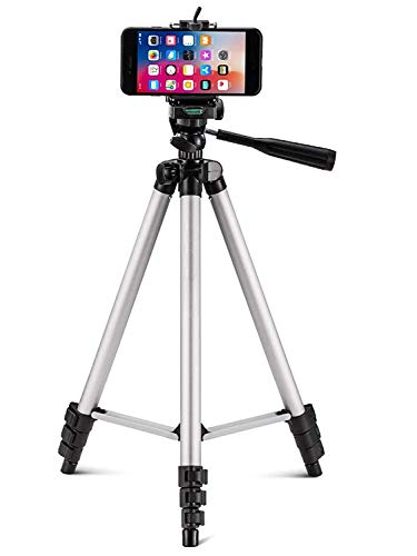 HRK Elite 3110 Flexible Foldable Tripod for Camera, DSLR and Smartphones with Mobile Attachment,Tripod for Mobile Phone,Tripod Stand for Phone and Camera,Mobile Tripod Stand (White & Black)
