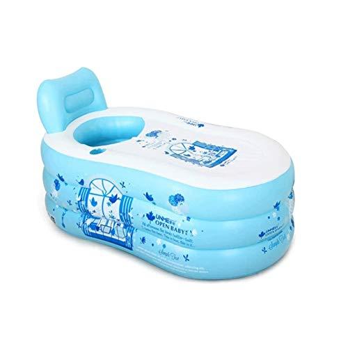Sdesign Color Azul PVC portátiles Plegables para Adultos Plegable Plegable baño baño baño baño niño Piscina para niños - para Uso en Interiores, al Aire Libre
