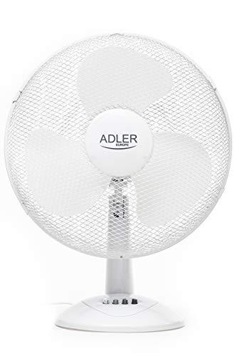 Ventilator | Tischventilator | Ø40cm, 55 Watt | Standventilator 180° | Rotation | Lüfter | Luftkühler | Desk Fan | Fan | 180° Oszillierend