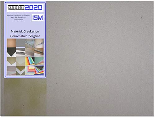 15 Stück Graukarton; 350g/m²; Format: 500x700mm; VE: 2000g