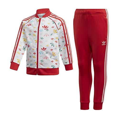 adidas SST Suit Floreal Tuta Bianca da Bambino FM4944