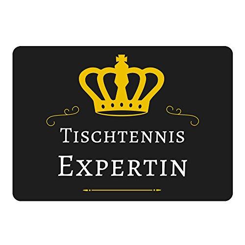 Multifanshop Mousepad Tischtennis Expertin schwarz