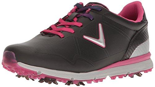 Callaway Women's Halo Golf Shoe, Black/Pink, 9.5 B US
