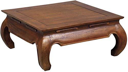 AUBRY GASPARD Table Basse Exotique en Teck Massif Opium Taille 2