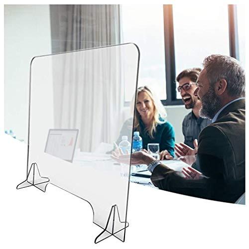 Farblose Plexiglas Platten,Spuckschutz Plexiglas,for Zähler und Transaktion von Windows, Schutz gegen Husten und Niesen (69x59x5cm) (Size : 45x50cm)