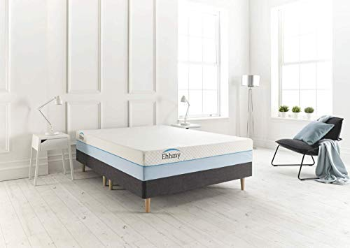 Ehhmy Hybrid Coolblue Mattress With Extraordinary 1000 Independent Less Friction Pocket Coil Technology And Special Tailor Made Zip Cover (Super King (180cm X 200cm))