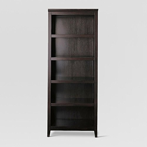 "72"" Carson 5 Shelf Bookcase Espresso Brown - Threshold™"