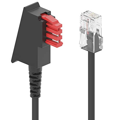 Ancable TAE-F auf RJ45 Routerkabel Anschlusskabel 3M, TAE-F 8P2C Internet Kabel Kompatibel mit DSL VDSL Fritzbox Internet Router an Telefondose TAE