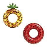 Bestway 36121 Fruit d'été (Ananas , Pastèque -Bouée Gonflable baignade-Multicolore -Taille Unique, Modèle aléatoire