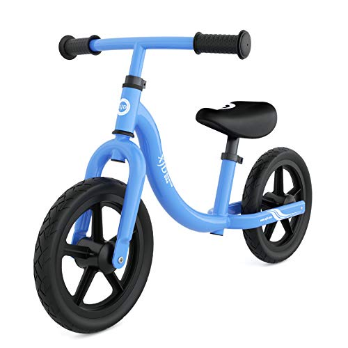 XJD Bicicleta sin Pedales para niños de 1.5 a 5 Años First Bike para Niños Bici para Aprender a Mantener el Equilibrio con Manillar y Sillín Ajustables hasta 30 Kg (Azul)