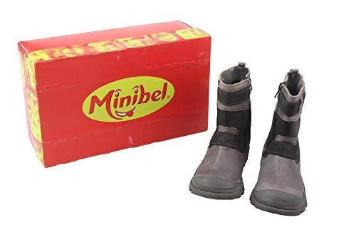 Minibel Kinder Schuhe Stiefel Gr. 30 schwarz-braun Neu