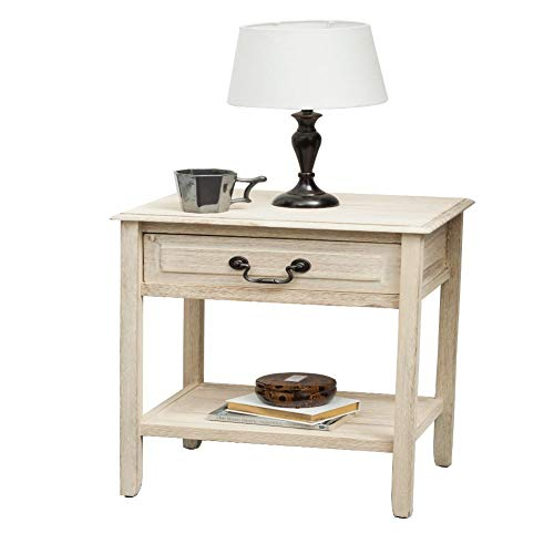 Christopher Knight Home Banks Acacia Wood Accent Table, Brushed Morning Mist