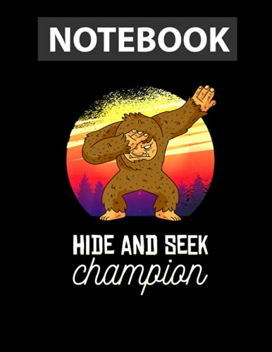 Vintage Retro Hide And Seek Champion Dabbing Bigfoot Premium Notebook 8.5 x 11 inches - 130 Pages