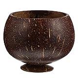 JWDS Cuenco de coco para almacenamiento de productos de coco, cubiertos de coco, ensalada de frutas, café reciclable y degradable