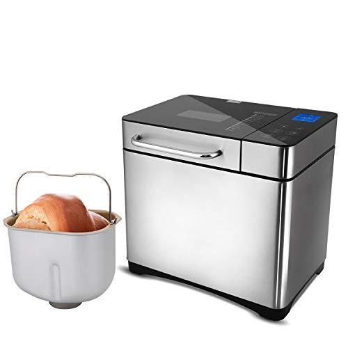 COOCHEER Panificadora Completamente Automática,Panificadora de Corteza crujiente con 19 Programas,710W,Programable para Hacer Pan,para Panes Artesanales, sin Gluten, Masas,Bizcochos y Mermeladas