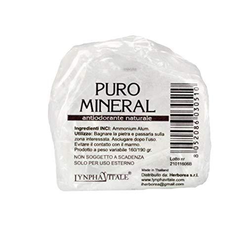 Desodorante de Alumbre de Amonio Natural en Piedra en Bruto - 160/190 gr - Puro Mineral - Cantitad: 1