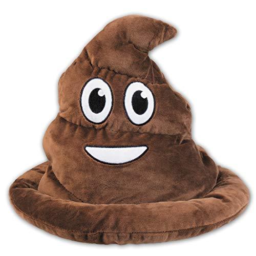 Amakando Emoji Mütze Kothaufen / Braun in Hutgröße 59 / Poop Hundehaufen Kopfbedeckung / Perfekt geeignet zu Fasching & Karneval
