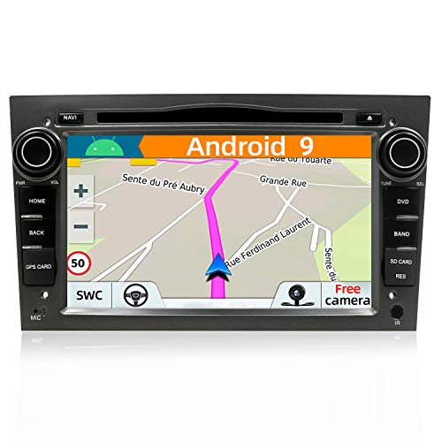 YUNTX Android 9 Autoradio Compatible avec Opel Meriva Vivaro Astra Corsa - 4G+64G - GPS 2 Din Caméra arrière et Canbus GRATUITES - Soutien Dab+  DVD Commande au Volant  4G WiFi Bluetooth Mirrorlink