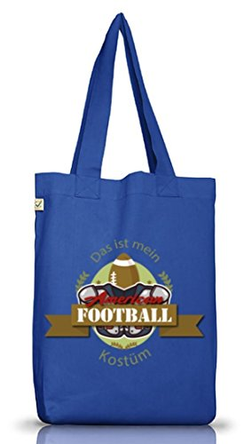 ShirtStreet American Football Kostüm für NFL Superbowl Fans, Größe: onesize,Bright Blue