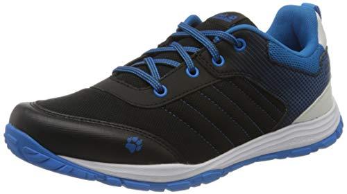 Jack Wolfskin Cascade Low K, Chaussures de Cross, Noir (Black/Blue 6058), 31 EU