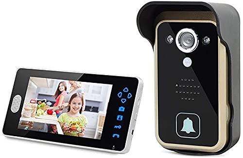 Timbre inalámbrico, Timbre de video inalámbrico |Calidad de video HD, resistente a la intemperie, Audio de 2 vías |Detección de movimiento y alertas |Fácil instalación requiere 2.4GHz , para la oficin
