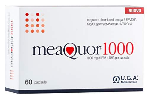 MEAQUOR® 1000 - con 1000mg di EPA e DHA per capsula | Certificato 5* IFOS su ogni lotto | 60cps