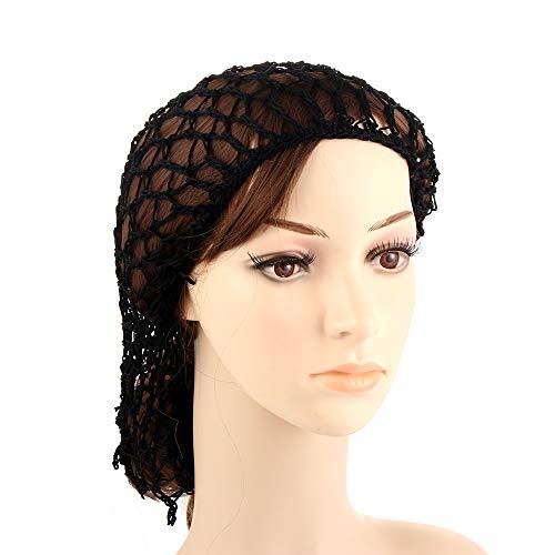Kuuans Damen Netz-Haarnetz Viskose Kopfbänder zum Schlafen Häkeln Haarnetz