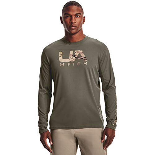 Under Armour Men's Iso-Chill Shore Break Long-Sleeve T-Shirt , Victory Green (369)/UA Barren Camo , 3X-Large