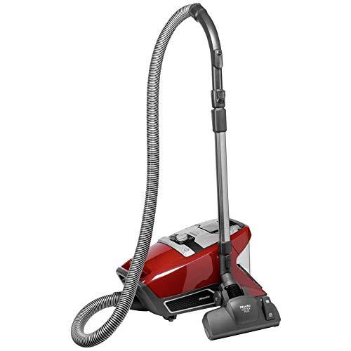 Miele Blizzard CX1 Red PowerLine - SKRF3 Bodenstaubsauger mit Hygiene Lifetime Filter und Vortex Technology - beutellos - Mangorot