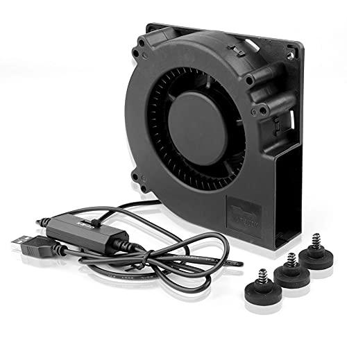 euroharry ventola radiale, ventola per barbecue ventola USB 120 mm ventola USB, ventola USB, con mini ventola USB DC 5 V   0,5 A per PC TV box ricevitore cabina AV   PS4   router