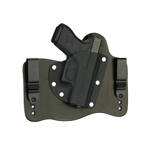 FoxX Holsters Compatible for Glock 43 9mm in The Waistband Hybrid Holster (Black)
