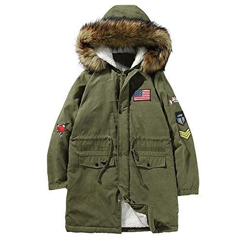 Dasongff hoodie heren winterjas teddyvel warm gevoerd trenchcoat vlag doco vrijetijdsjas mannen verdikt grote maten sweatjas windbreaker M-5XL