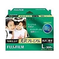 富士フイルム インクジェットペーパー 画彩 写真仕上げ 光沢プレミアム L 300枚 WPL300PRM