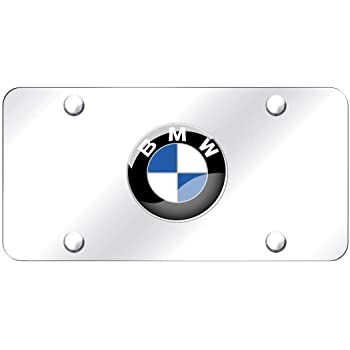 Silver vs Mirror CAR FANS Heavy Duty 3D Stainless Steel License Plate Cover for BMW,All for BMW Models,Personalize Your BMW License Plate Frame