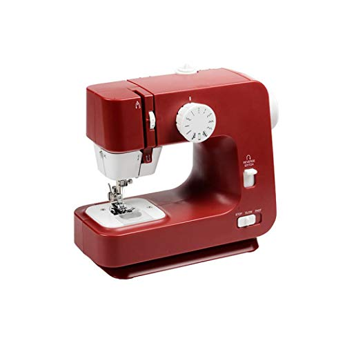 Find Discount ABS Mini Multifunction Sewing Machine Plastics Family Portable Lightweight (Red)