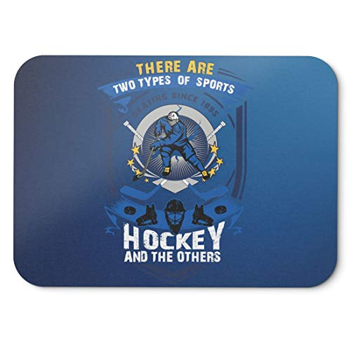 BLAK TEE Two Types Of Sports Ice Hockey And Others Slogan Mouse Pad 18 x 22 cm in 3 Colours Blue