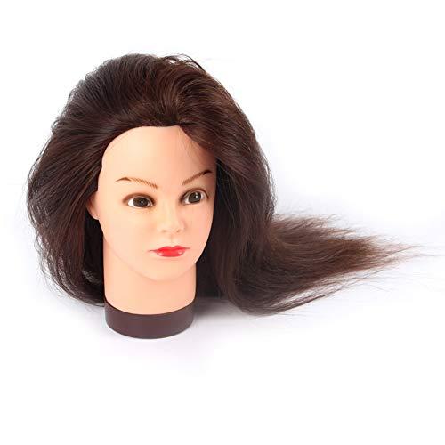 De vrais cheveux Hot Roll Teach Head Barber Shop Learning Perm cheveux teints Dummy Head mariée Maquillage modélisation Mannequin Head TêTes D'Exercice